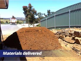 Lawn Preparation - Materials Delivered
