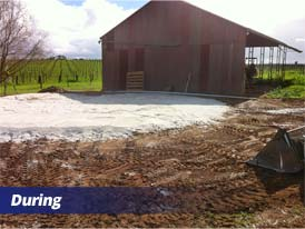 Rainwater Tank Base Installation - During