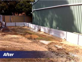 Retaining Wall Installation (Posts) - After